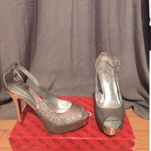 Guess Platform Peep Toe Heels